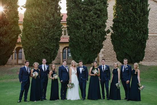 bridal party at WA University