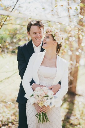 bride and groom after elopement