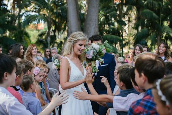 bride in Truvelle wedding dress
