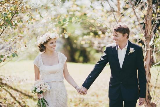 bride in beaded asos wedding dress