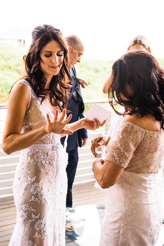 bride in lace fitted gown