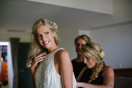 bride in rachel gilbert gown