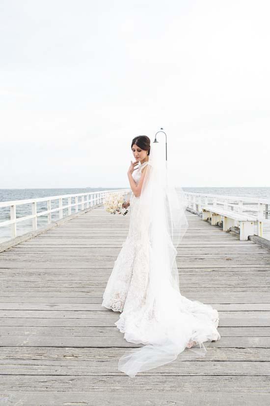 bride on st kilda pier