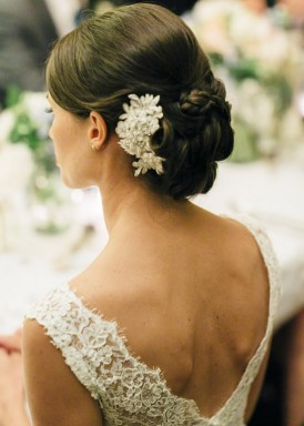 bride with twisted bun