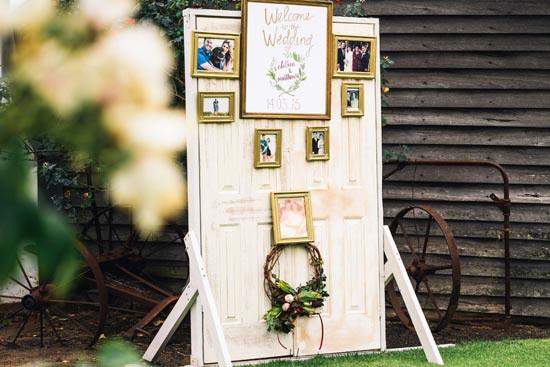 family photo wedding welcome