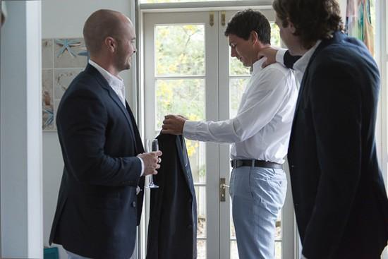 groom getting ready in byron bay