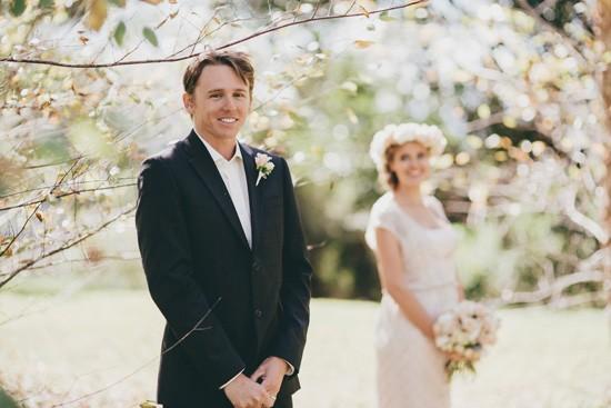 groom in black suit no tie