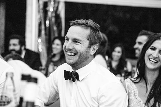 groom in velvet bow tie