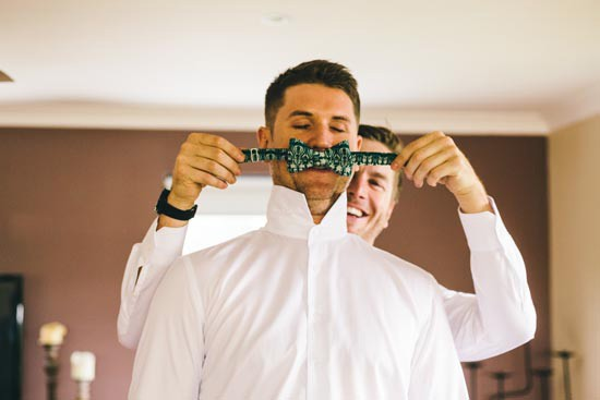 groomsmen with bowtie