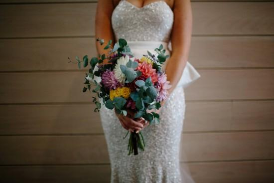 gum leaf wedding bouquet