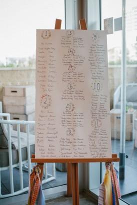 handwirtten seating chart