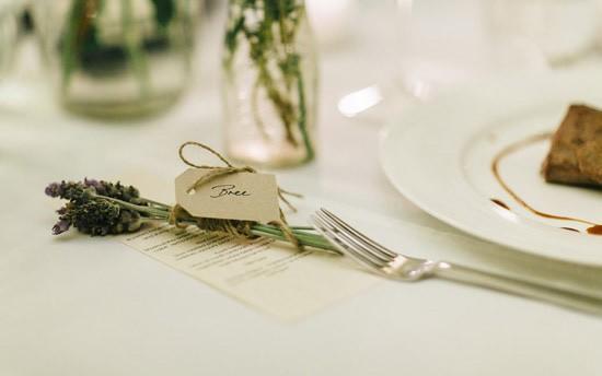 lavender place card