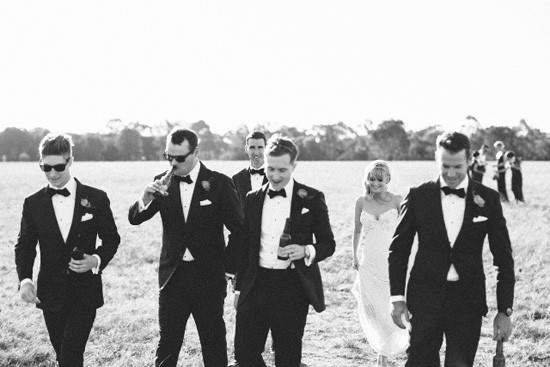 modern black and white wedding photo