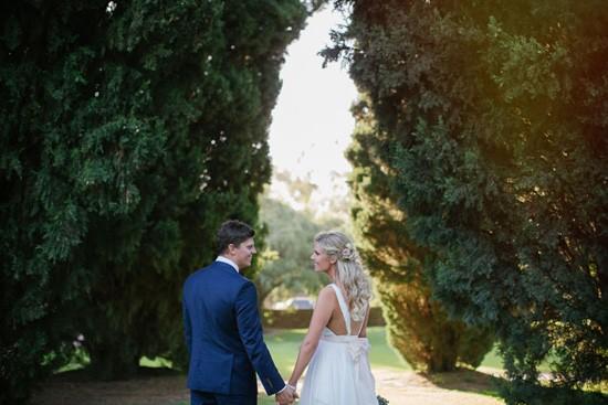 newlyweds in perth garden