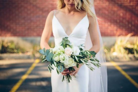 olive leaf wedding bouquet