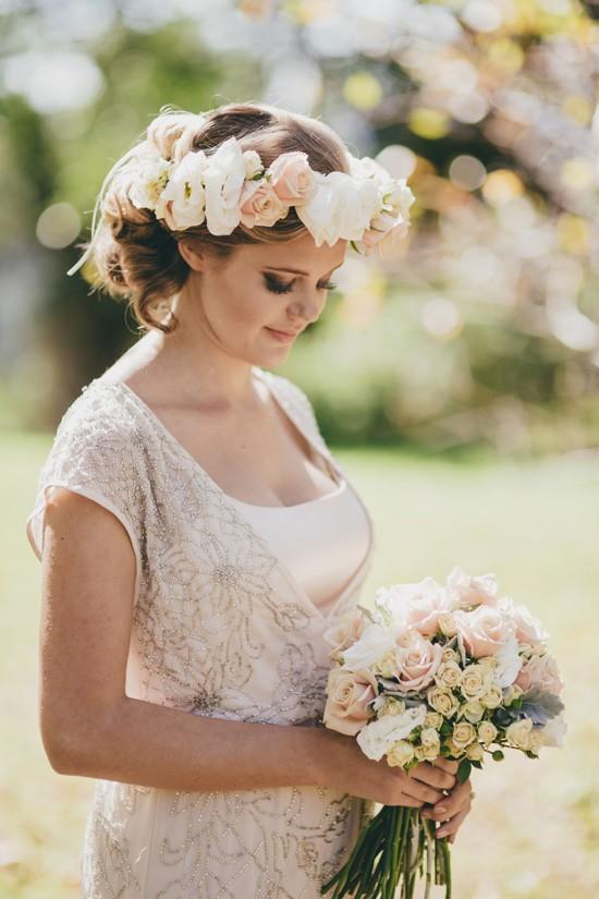 pregnant bride in beaded wedding dress