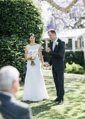 queensland garden wedding ceremony