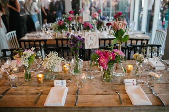 raw wood wedding tables