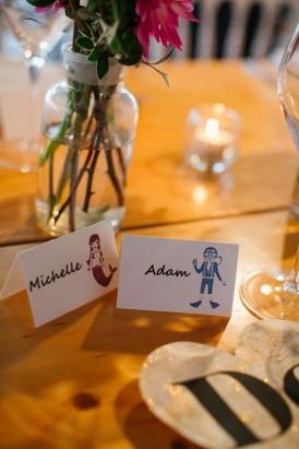 stamped wedding palcecards