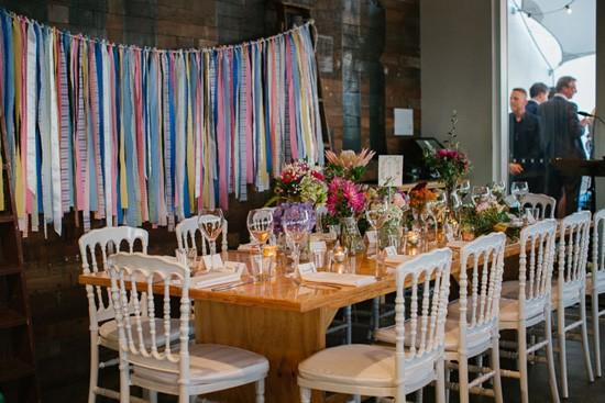 streamer wedding decor