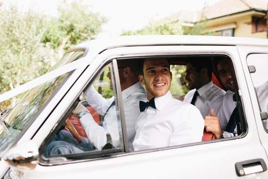 vintage fiat wedding car
