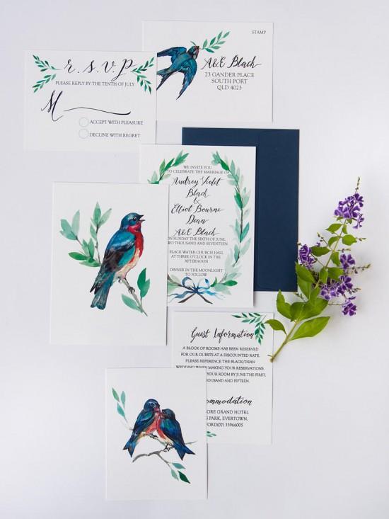 watercolour wedding invitations0012