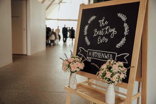wedding chalkboard welcome