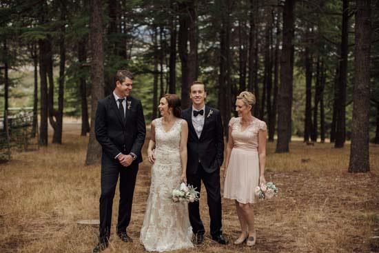 wedding portrrait in canberra pine forest