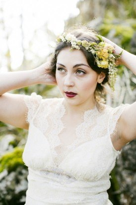 yellow winter flower crown
