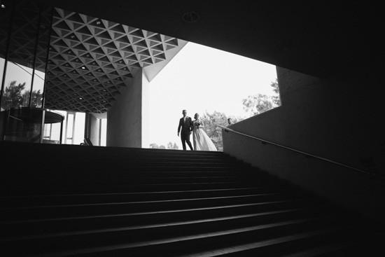 Architectural wedding photo