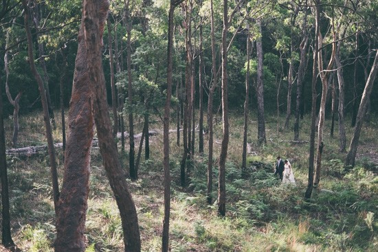 Australian bushland wedding