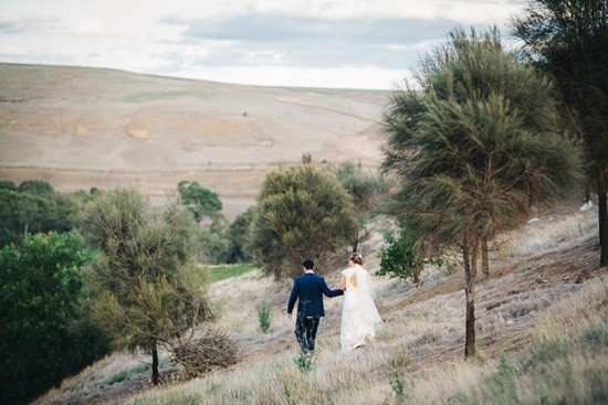 Australian bushland wedding photo
