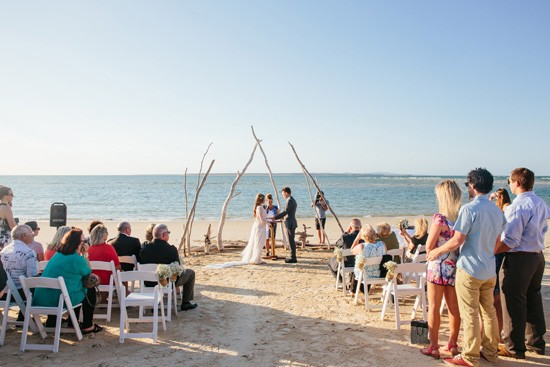 Beach ceremony on Stradbroke Island
