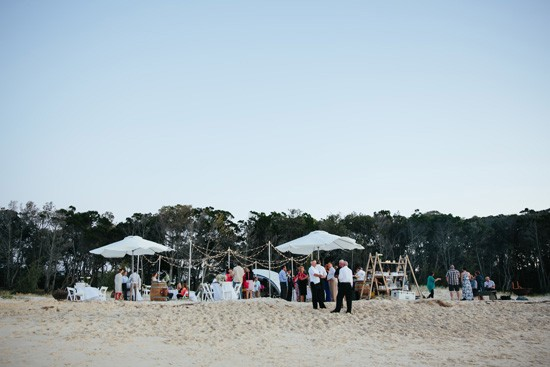 Beach wedding outside venue