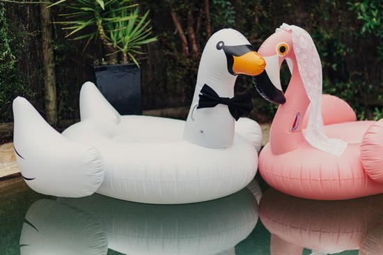 Blow up swans