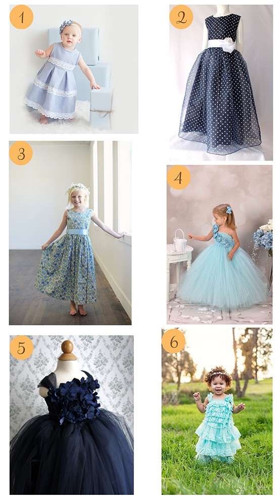 Blue Flowergirl Dresses