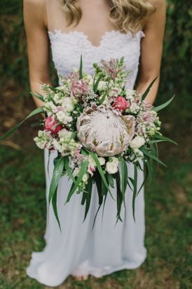 Bouquet with proteas