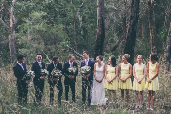 Bridal aprty in Australian bush