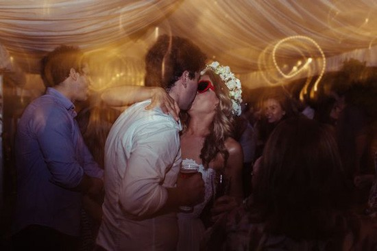 Bride and gorom on dance floor