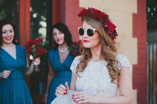 Bride in chic sunglasses
