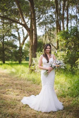 Bride in mermaid Pronovias dress