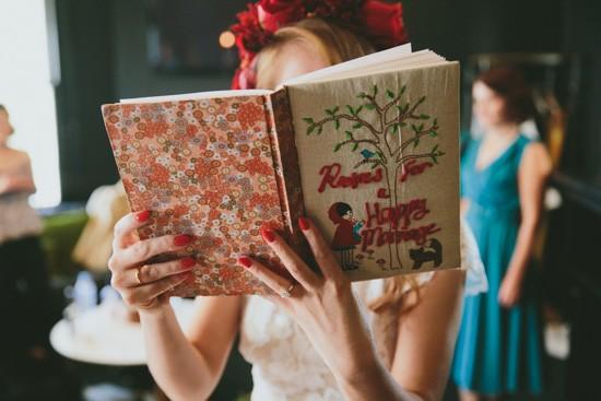 Bride iwth wedding gift