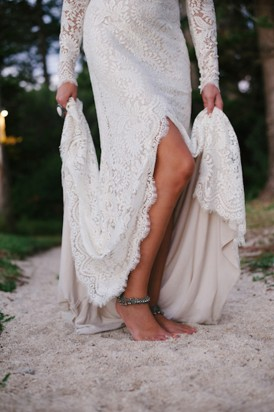 Bride with anklet