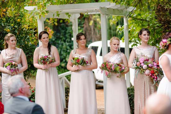 Bridesmaids at Brookside Vineyard