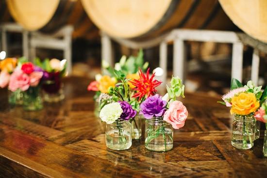 Bright floral centrepiece