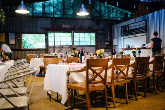 Brookside Vineyard Wedding Reception