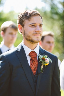 Burnt Orange Wedding Tie