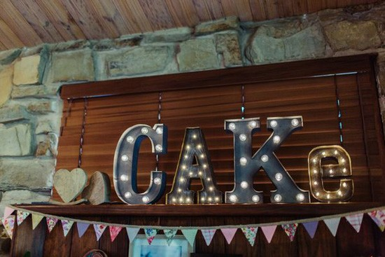 Cake marquee sign