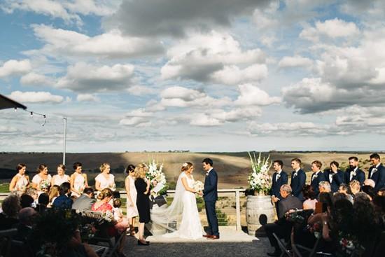 Clyde Park Vineyard wedding ceremony