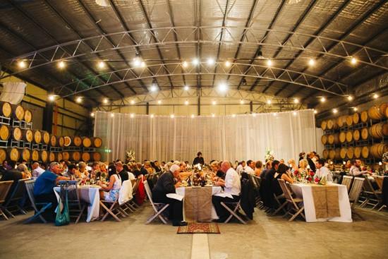 Clyde Park Vineyard wedding reception